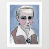 Gertrude Stein Literary Portrait Art Print