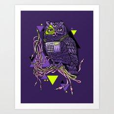 DiscOwl 6c Art Print