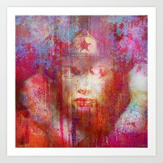 wonder abstract woman Art Print