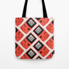 Gameboy Color: Red (Pattern) Tote Bag