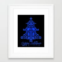 Ornate Pineapple Holiday… Framed Art Print