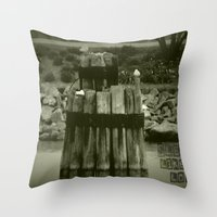 Sleep like a log Throw Pillow