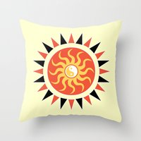 Yin yang sunshine Throw Pillow