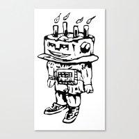 Cake-bot Canvas Print