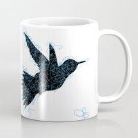 Bird Fly No. 1 (Black/Aqua) Mug