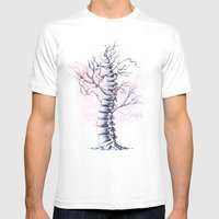 TreeSpine Mens Fitted Tee White SMALL