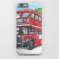 Red Bus In Davis iPhone 6 Slim Case