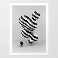 Primitive Stripes Art Print