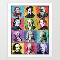 Composers Compilation Art Print
