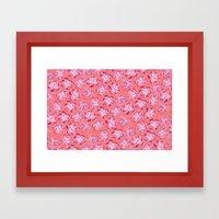 Wallflower - Rosette Framed Art Print