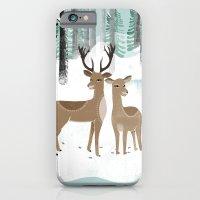 Winter Deer by Andrea Lauren  iPhone 6 Slim Case