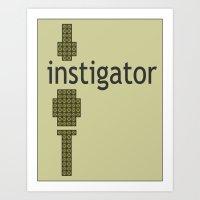 8-Bitstigator Art Print