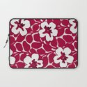 Painted Floral Red Laptop Sleeve