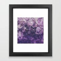 Amethyst Gem Dreams Framed Art Print