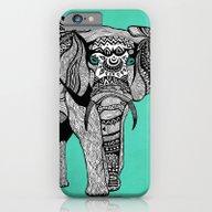 Tribal Elephant Black An… iPhone 6 Slim Case