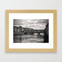 The Ponte Vecchio In Flo… Framed Art Print