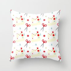 Sewing fun Throw Pillow