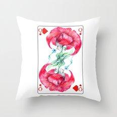 Lys Queen Card Throw Pillow