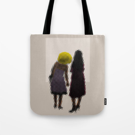 She tried, but all she could see was the missing picture Tote Bag