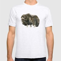 Geometric Yak Mens Fitted Tee Ash Grey SMALL