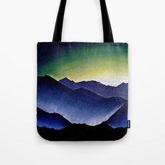 Mountain Landscape at Dusk Tote Bag