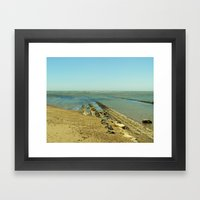 Bowling Ball Beach VIII Framed Art Print