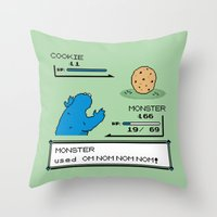 Cookiemon Throw Pillow