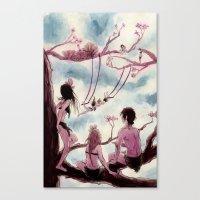 Nymphs Canvas Print