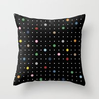 Pin Points On Back Throw Pillow