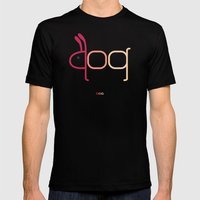 d- dog Mens Fitted Tee Black SMALL