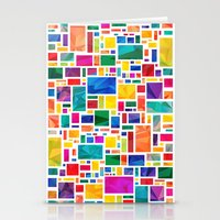 Polygonal Map Stationery Cards