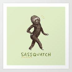 Sassquatch Art Print