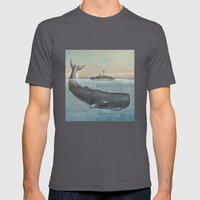 The whale Mens Fitted Tee Asphalt SMALL