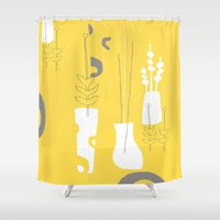 Modplants Shower Curtain