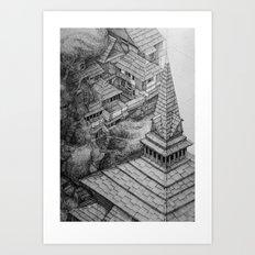 Srinigar. Kashmir Art Print