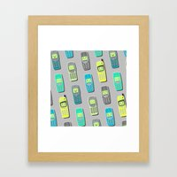 Vintage Cellphone Patter… Framed Art Print