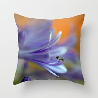 Blue Agapanthus 2786 Throw Pillow