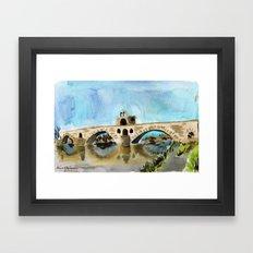 danse sur le pont Framed Art Print