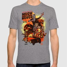 New Wave Laser Cats 2: Meow or Never Mens Fitted Tee Tri-Grey SMALL