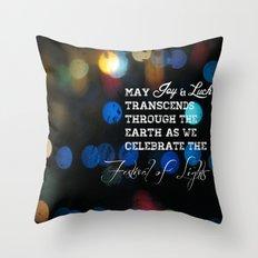 Festival lights Throw Pillow