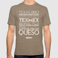 Austin — Delicious City Prints Mens Fitted Tee Tri-Coffee SMALL