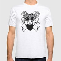 Rock Out Monkey Boy Mens Fitted Tee Ash Grey SMALL