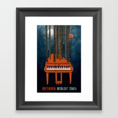 Moonlight Sonata - Beethoven Framed Art Print