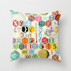 Math In Color Throw Pillow