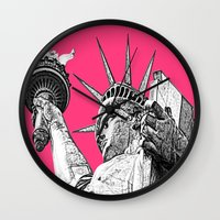 New York Statue Of Liberty Wall Clock