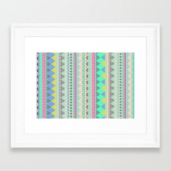 PASTEL AZTEC Framed Art Print