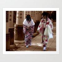 Geishas (Kyoto, Japan) Art Print