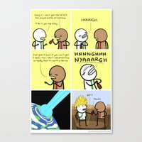 Canvas Print featuring Antics #077 - pop culture reference by Stephen Gillan