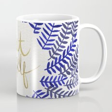 Treat Yo Self – Gold & Navy Mug