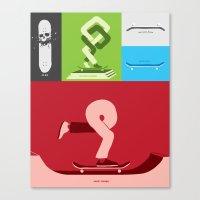 Skateboarding Is An Idea… Canvas Print